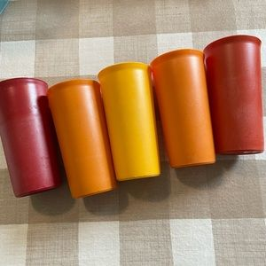 Vintage Tupperware, colorful tumblers